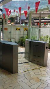 Full Flap Barrier Pedestrian Gate | Elid Technology International Pte. Ltd | Elid Technology Condo