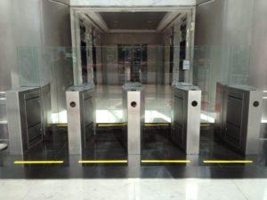 Full Flap Barrier Pedestrian Gate | Elid Technology International Pte. Ltd | Elid Technology IMG 1507