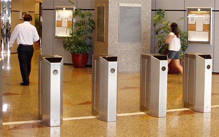 Pedestrian Gate   Elid Technology International Pte. Ltd   Elid Technology flap pedestrian barrier gate 01
